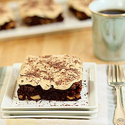 Brownies with bourbon caramel frosting | Delicious | Pinterest