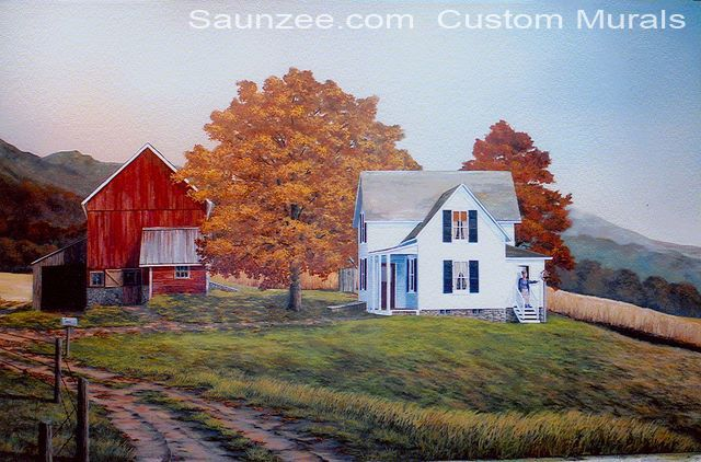 Pin by ashley newland on h o m e pinterest for Country wall mural