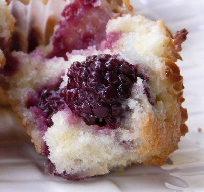 Blackberry coconut pound cake muffins! | Delicious Coconut Recipes ...