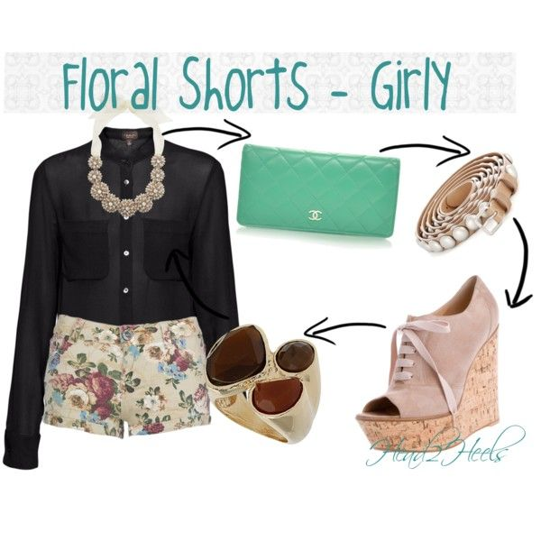 """Floral Shorts - Girly"" by head2heels on Polyvore"