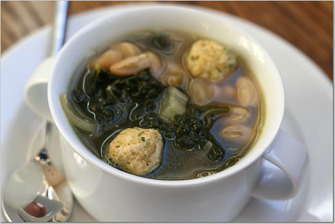 Escarole Soup with Turkey Meatballs | To Try - Poultry | Pinterest