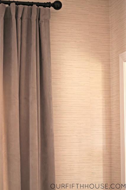 hanging grasscloth wallpaper