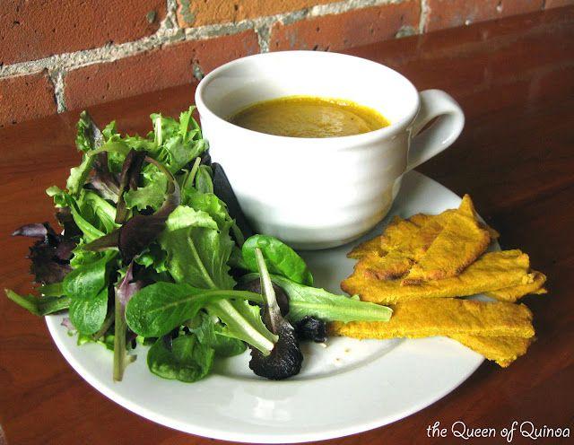 Soup with Quinoa Flatbread   Queen of Quinoa   Gluten-free + Quinoa ...