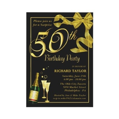 50th Birthday Party - Surprise Party Invitations from http://www ...