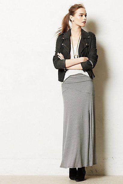 Split Stripes Maxi Skirt #anthropologie