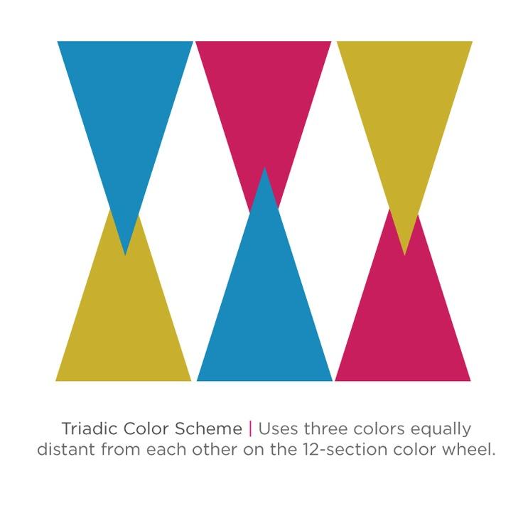 triadic color scheme the colors pinterest