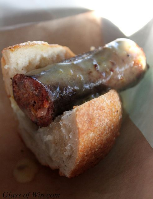 Lamb Merguez Hot Dog - Muddy Leek Invitational by Glass of Win, via ...