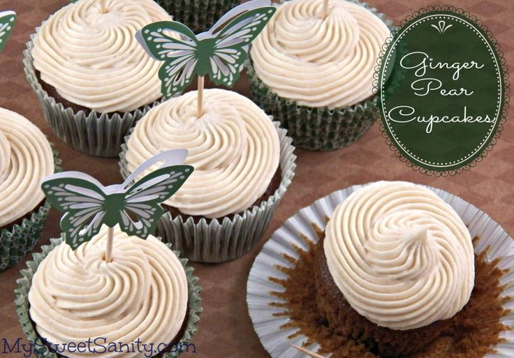 Ginger Pear Cupcakes - My Sweet Sanity