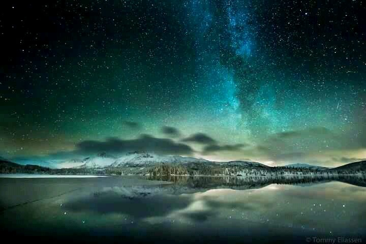 Night sky in norway | Natures beauty | Pinterest