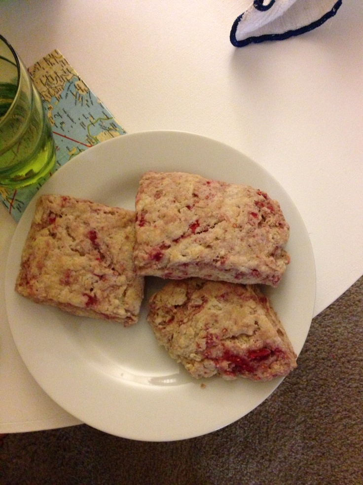 Whole wheat ricotta and raspberry scones from Smitten Kitchen!