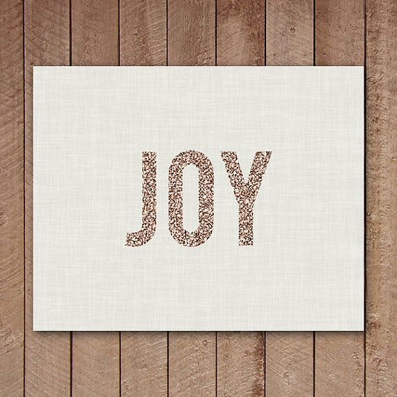 Gold Joy Sign, Joy Printable, Gold Christmas Print, Neutral Home Decor, Natural, Instant Download