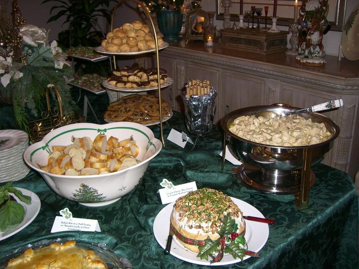Buffet Table Christmas Party Yummy Stuff Pinterest