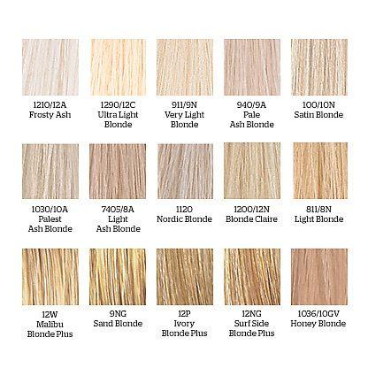 Wella Blonde Hair Colors Dream Blonde Pinterest