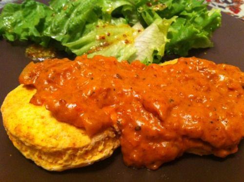 Sweet Potato Biscuits with Soyrizo Gravy | Epifurious | Pinterest