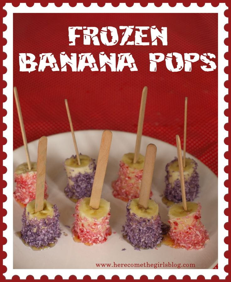 Frozen Banana Pops Recipe | ♥ Snack and Lunch ♥ | Pinterest