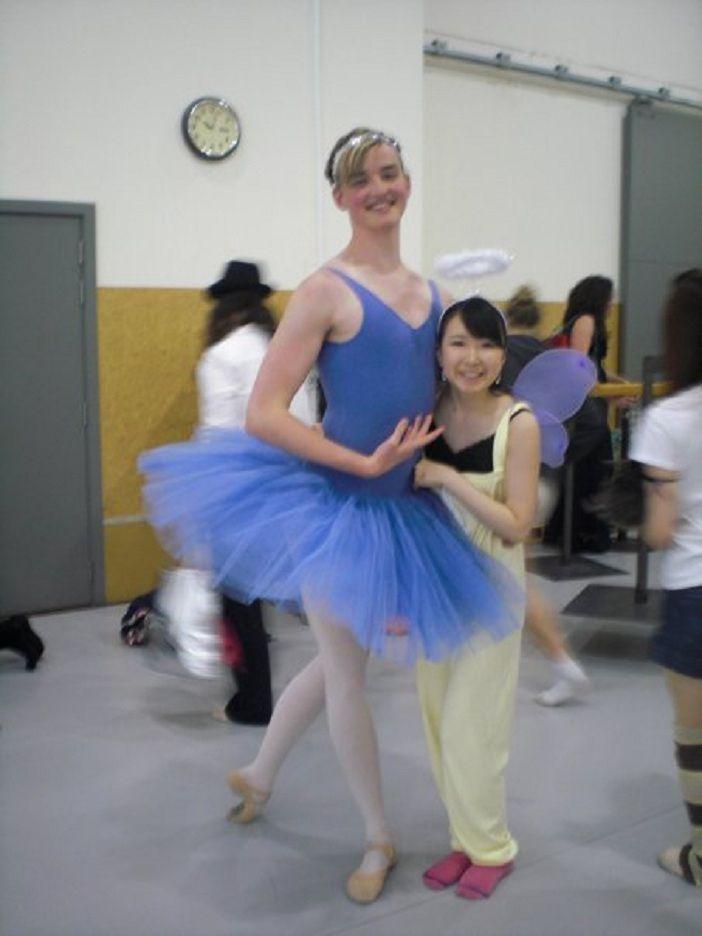 a boy ballerina.  cuteness