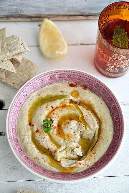 Baba Ghanoush (smoky eggplant and tahini dip)