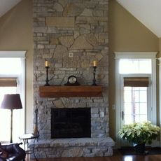 Fireplace with windows on each side fireplaces pinterest for Fireplace with windows on each side