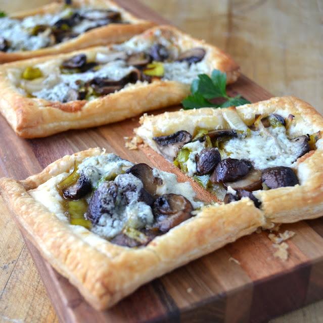 Mushroom, Leek and Gorgonzola Tarts. This is just - gorgeous. oh my ...