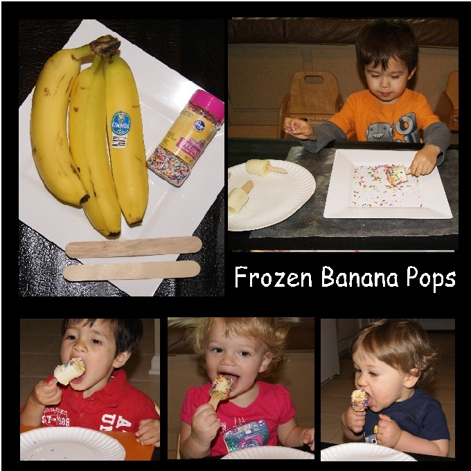 frozen banana pops | ♥ Snack and Lunch ♥ | Pinterest