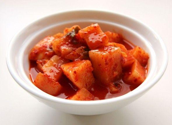 Kkakdugi (Cubed radish kimchi) | A healthier you | Pinterest