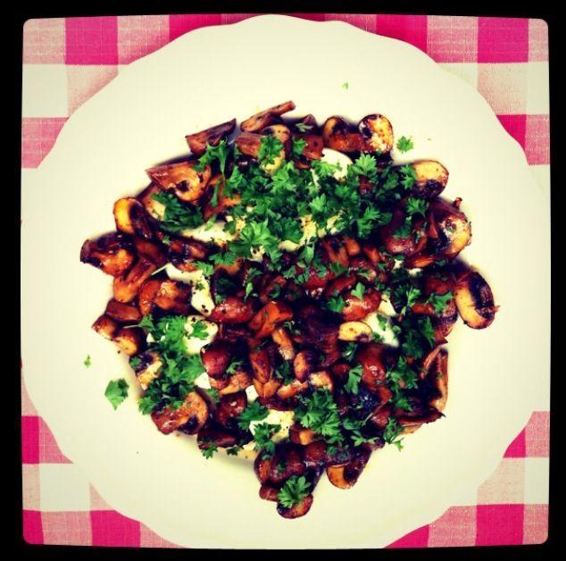 warm mushroom salad   My Home Made Food Blog   Pinterest