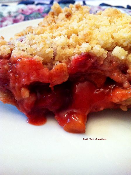 Strawberry rhubarb pie-hoping this recipe is better than the last one ...