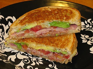 Grilled Cheese Sandwich with Bacon Avocado & Ham by Hot Eats and Cool ...