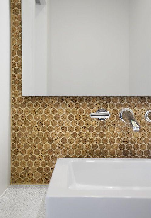 cork as backsplash tile fabric and finishes pinterest
