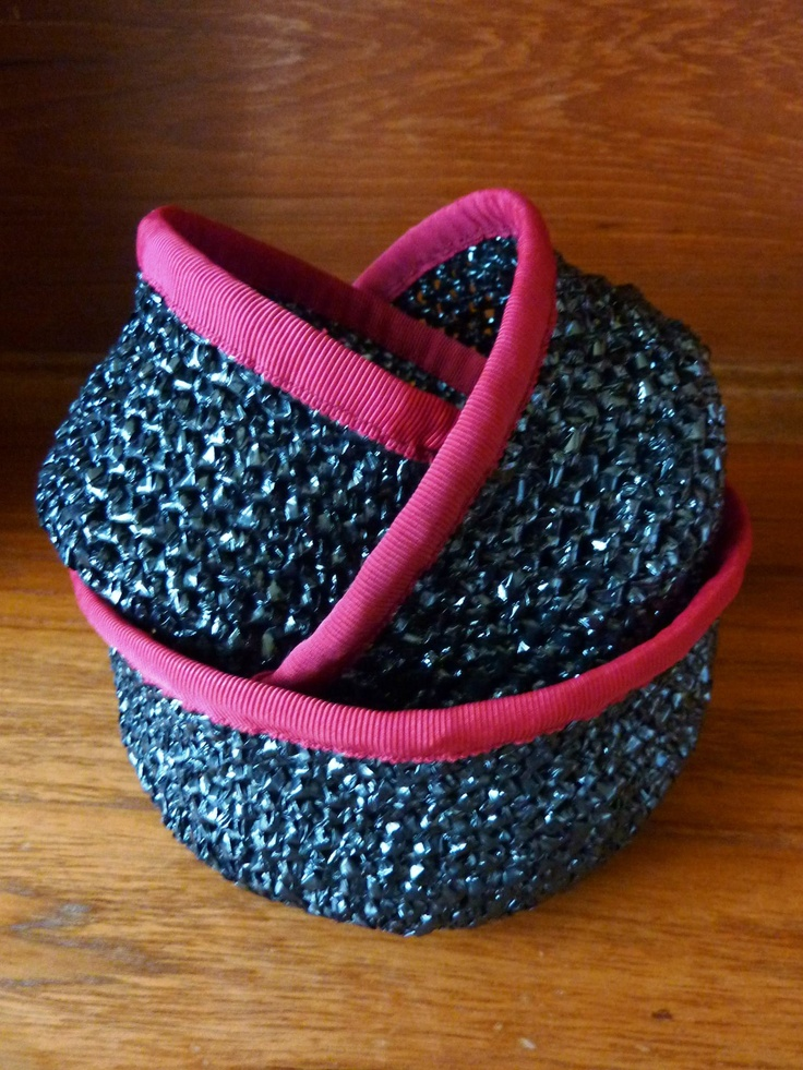 Crocheting Vhs Tape : Made from old VHS tape Crafts Pinterest