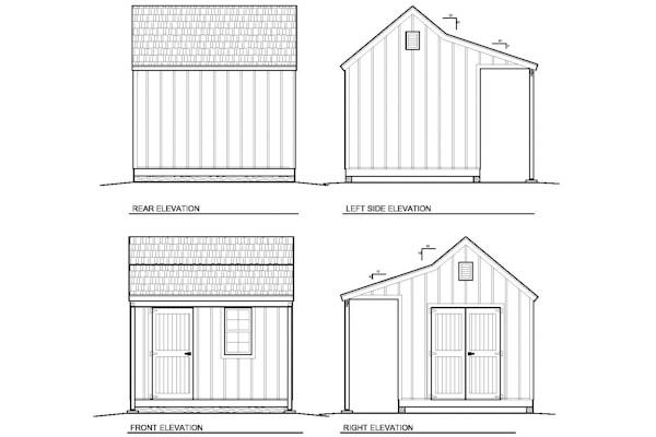 Plans For 10x12 Cape Cod Shed With Porch Garden Sheds