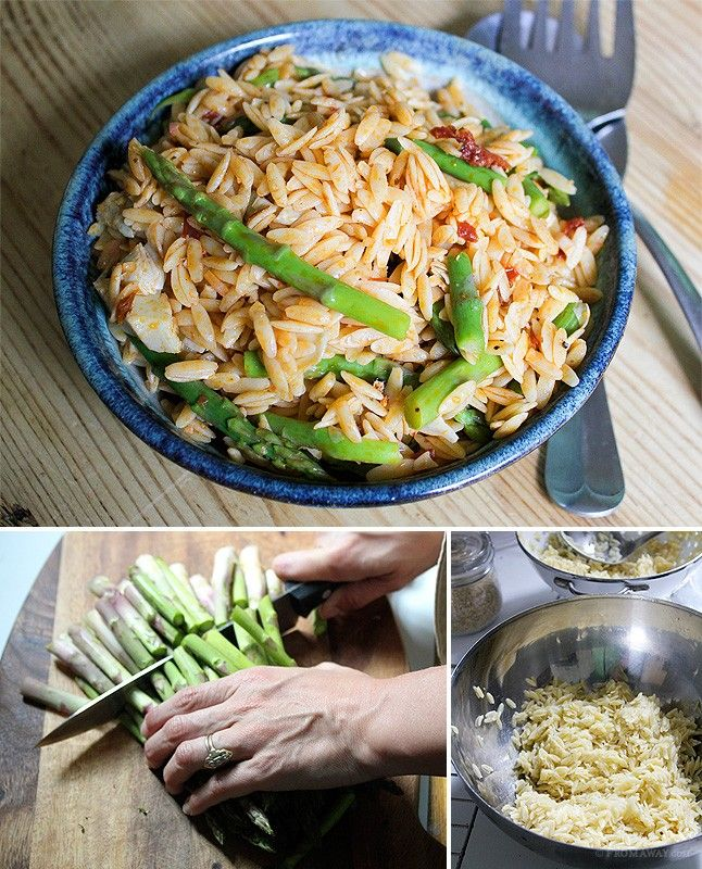 Orzo Pasta Salad with Asparagus and Artichoke: Orzo makes a light ...