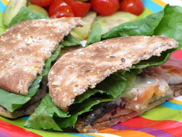 portobello burger | Low Calorie recipes | Pinterest