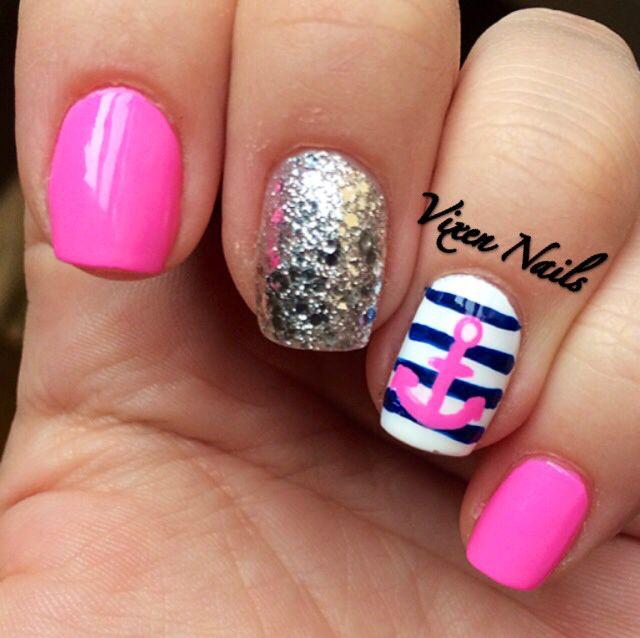 Nautical nails - Nail Designs Nautical ~ Pink Nautical Nail Designs Nails  On Sugar - Nautical - Nautical Nail Designs Graham Reid