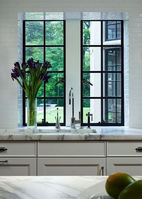 black frame windows | kitchen | Pinterest