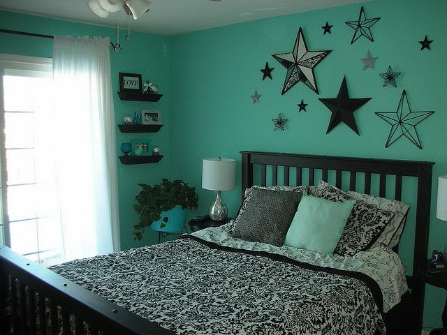 aqua and black bedroom for the home pinterest