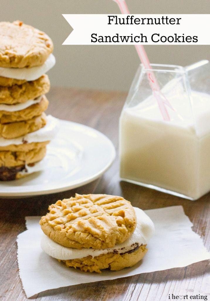 Fluffernutter Sandwich Cookies - sounds like a peanut-butter smore ...