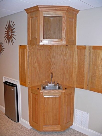 corner cabinet wet bar home pinterest