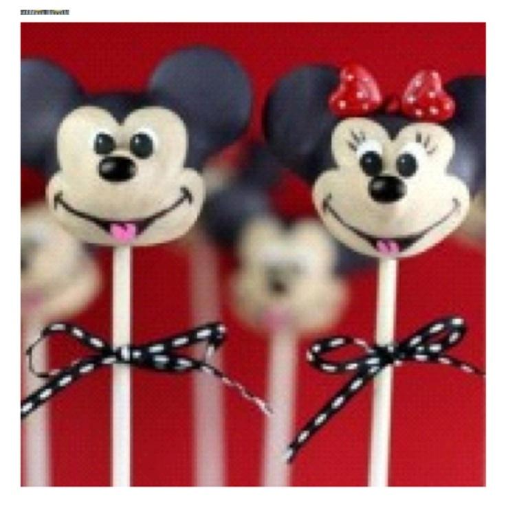 mickey cakesMickey And Minnie Cake Pops Instructions