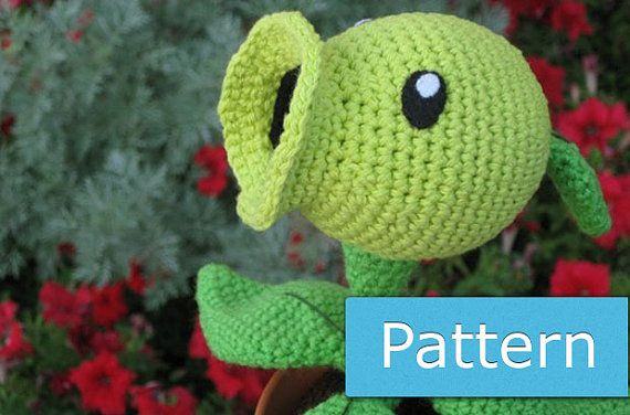 Crochet Plants Vs Zombies Patterns : Peashooter from Plants vs. Zombies PDF Amigurumi Crochet Pattern by ...
