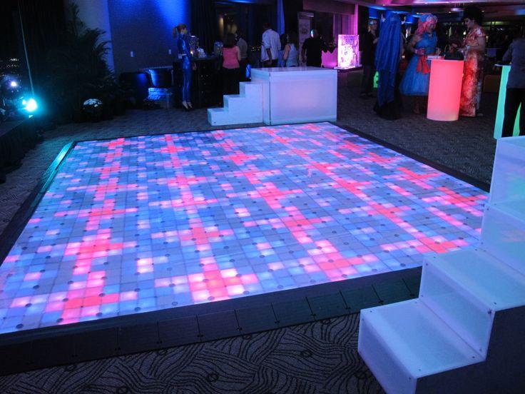 Custom led dance floor event decor pinterest for 1 2 3 4 get on d dance floor