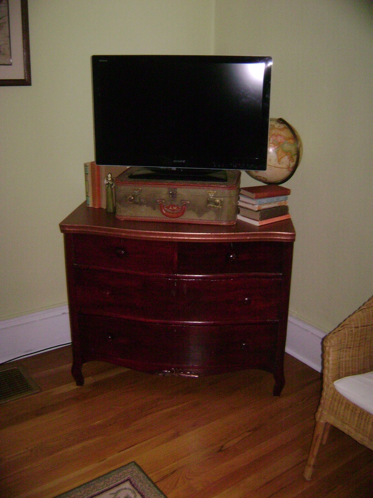 Antique Dresser Turned Tv Stand My House Pinterest