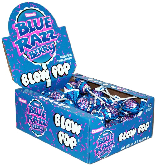 Blue Razz Berry Blow Pops: I could eat these forever!