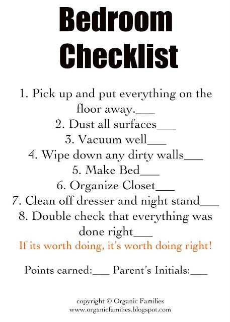 zone cleaning with kids