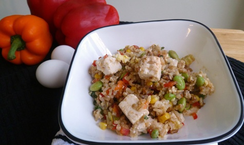 ... shrimp or chicken -- Fried Rice with Scallions Edamame and Tofu 4