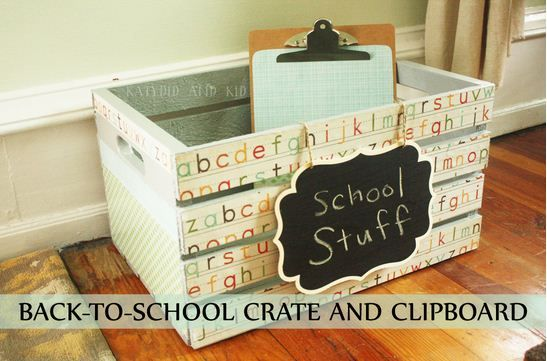 Back to School Crate and Clipboard by @Kathleen Walck #Michaelsbts