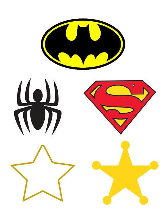 Superhero applique/ stencil | tuck | Pinterest