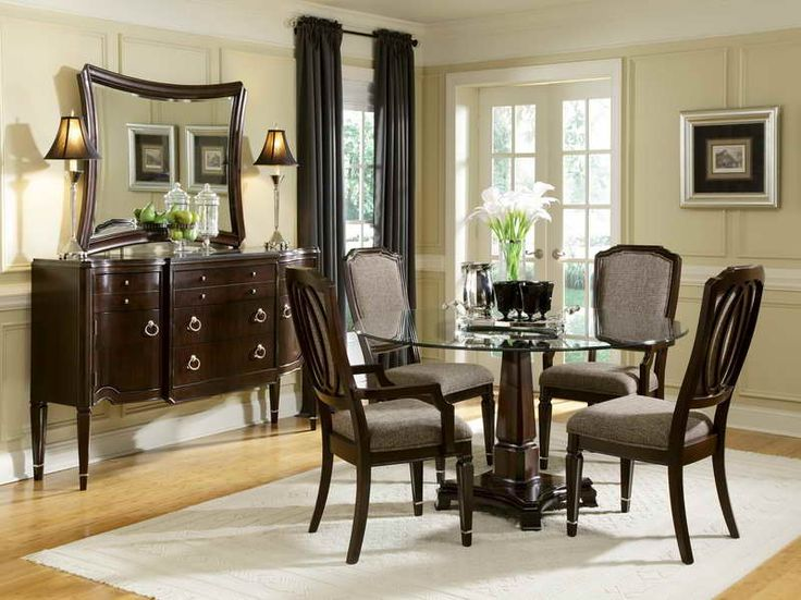 Pin by lynn johnson on decor decorating pinterest for Round dining room sets for small spaces