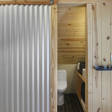 Pin by pitmaster t on corrugated pinterest for Corrugated iron bathroom ideas