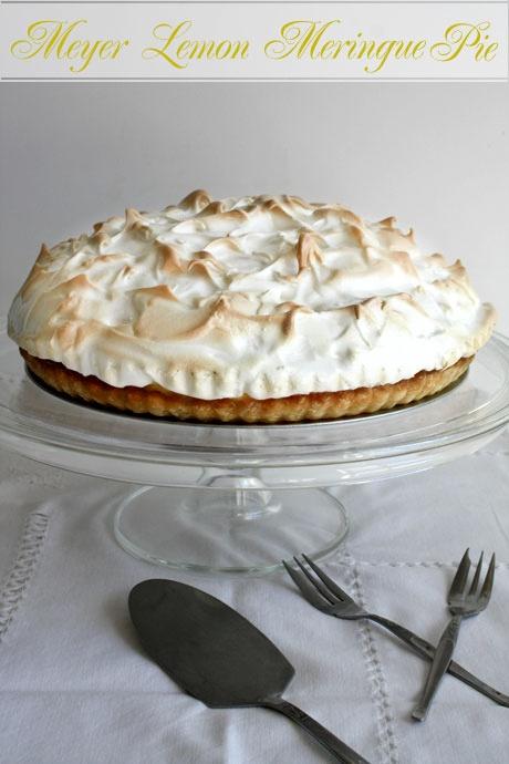 Meyer lemon meringue pie w/Meyer lemon sugar cookie crust. Happy Pi ...